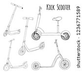 set of different scooters.... | Shutterstock .eps vector #1236771589
