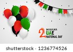 happy national day of uae.... | Shutterstock .eps vector #1236774526