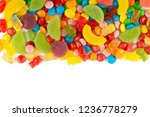 mixed colorful candies. color... | Shutterstock . vector #1236778279