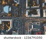 road traffic on crossroad or... | Shutterstock . vector #1236791050