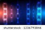 blockchain technology... | Shutterstock .eps vector #1236793846