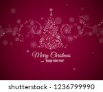 merry christmas and happy new...   Shutterstock .eps vector #1236799990