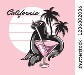 california. vector hand drawn...   Shutterstock .eps vector #1236802036