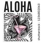 aloha. vector hand drawn...   Shutterstock .eps vector #1236802063