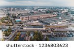 old chemical factory with oil... | Shutterstock . vector #1236803623