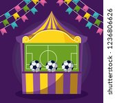 circus tent with game and... | Shutterstock .eps vector #1236806626