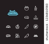 food icons set. ice cream and... | Shutterstock . vector #1236810583