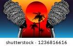 afro art craft batik paint ... | Shutterstock .eps vector #1236816616