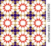 seamless pattern in authentic...   Shutterstock .eps vector #1236819340