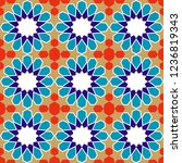 seamless pattern in authentic...   Shutterstock .eps vector #1236819343