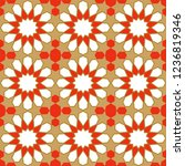 seamless pattern in authentic...   Shutterstock .eps vector #1236819346