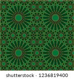 seamless pattern in authentic...   Shutterstock .eps vector #1236819400
