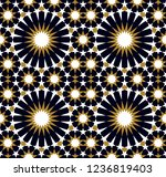 seamless pattern in authentic...   Shutterstock .eps vector #1236819403