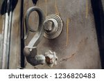 door handles with an old double ... | Shutterstock . vector #1236820483