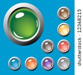 colored buttons. vector. | Shutterstock .eps vector #12368215