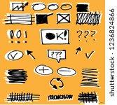 highlighter markers vector... | Shutterstock .eps vector #1236824866