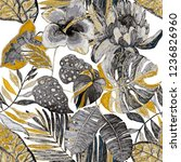 creative seamless pattern with... | Shutterstock . vector #1236826960