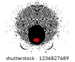 afro curly hair style concept....   Shutterstock .eps vector #1236827689