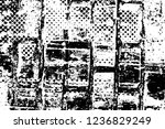 grunge overlay layer. abstract... | Shutterstock .eps vector #1236829249