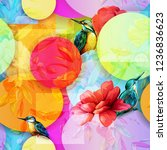 floral seamless background... | Shutterstock .eps vector #1236836623