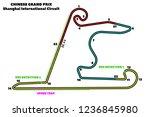 shanghai international circuit  ...   Shutterstock .eps vector #1236845980
