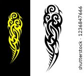 tribal tattoo sleeve pattern... | Shutterstock .eps vector #1236847666