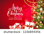 holiday gift boxes | Shutterstock .eps vector #1236854356