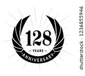 128 years anniversary. elegant... | Shutterstock .eps vector #1236855946