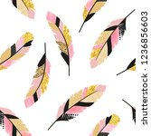 seamless vector pattern with... | Shutterstock .eps vector #1236856603