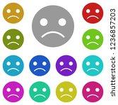 emoji sad face icon in multi...