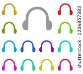 headphones symbol sign icon in...