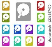 hard disk icon in multi color.... | Shutterstock .eps vector #1236857470