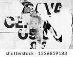 old grunge ripped torn vintage... | Shutterstock . vector #1236859183