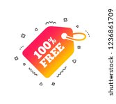 free tag icon. freebies banner... | Shutterstock .eps vector #1236861709