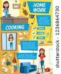 housekeeping service poster.... | Shutterstock .eps vector #1236864730