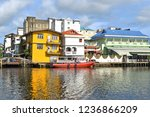 reflection of houses in the... | Shutterstock . vector #1236866209