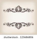 vector vintage border  frame... | Shutterstock .eps vector #123686806