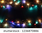 christmas background with copy... | Shutterstock . vector #1236870886