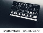 black analog synthesizer  close ... | Shutterstock . vector #1236877870