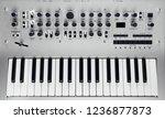 metallic analog synthesizer ... | Shutterstock . vector #1236877873