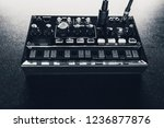 black analog synthesizer  close ... | Shutterstock . vector #1236877876