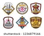 buddhism religious symbols ...   Shutterstock .eps vector #1236879166