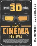cinema festival of 3d movies...   Shutterstock .eps vector #1236881533