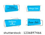 trendy banner flat design set... | Shutterstock .eps vector #1236897466
