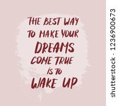 text about dreams come true... | Shutterstock .eps vector #1236900673