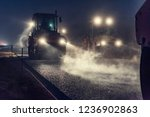rolling asphalt at night with... | Shutterstock . vector #1236902863
