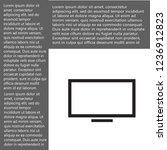 screen vector icon 10 eps