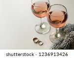 Transparent Glass Of Wine. Pin...