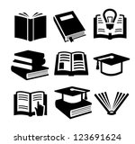 vector black book icons set on...