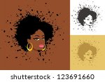 afro  sexy lady with abstract... | Shutterstock .eps vector #123691660